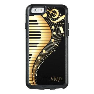Gold und schwarze Musik-Schlüssel OtterBox iPhone 6/6s Hülle