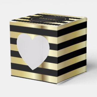 Gold und schwarze Streifen Geschenkschachtel