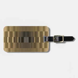 Gold und schwarzer Band-Gepäckanhänger Gepäckanhänger
