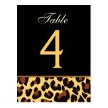 Gold-und schwarzer Leopard-Wedding Postkarten
