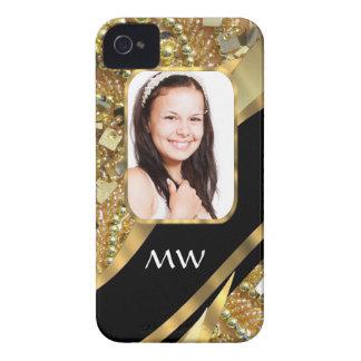 Gold und schwarzes Bling Case-Mate iPhone 4 Hülle