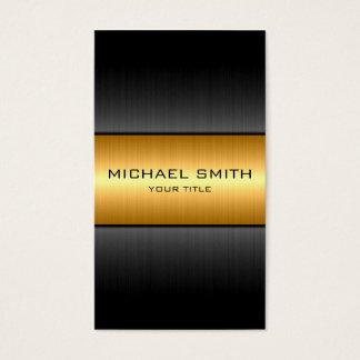 Gold und schwarzes Edelstahl-Metall Visitenkarte
