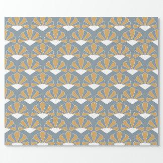 Gold-und Silber-blaues Geschenkpapierrolle