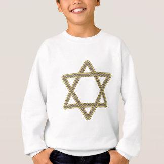 Gold-und Silber-Davidsstern Für Bar-Schläger Sweatshirt