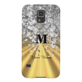 Gold- und Silber-Glitter mit Monogramm Samsung S5 Cover