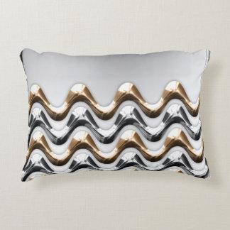 Gold-und Silber-Wellen-Kissen Dekokissen