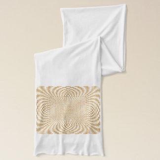 Gold und Weiß verzerrtes kariertes Muster Schal