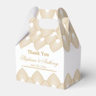 Gold und weiße Kunst-Deko-Muster-Hochzeit Geschenkschachteln