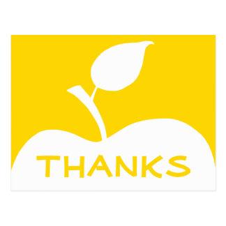 Gold und weißes Apple danken Ihnen Postkarte