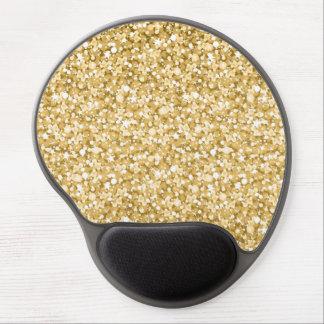 Gold und weißes Glitter-Muster Gel Mousepad