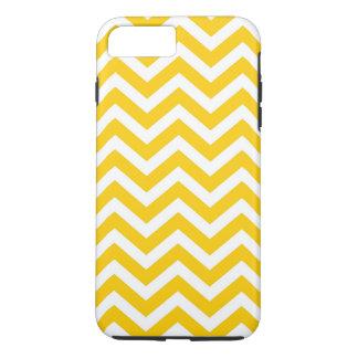 Gold und weißes Zickzack Muster iPhone 8 Plus/7 Plus Hülle