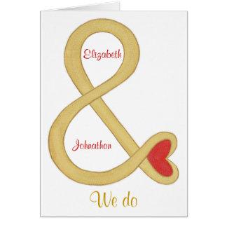 Gold-und Zeichen-Hochzeits-Einladungs-Karten Karte