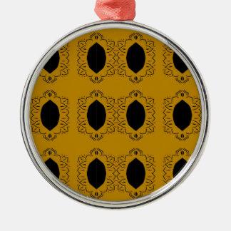 Gold verziert Mandalas Silbernes Ornament