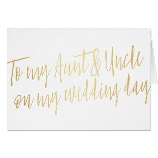 """Gold """"zu meiner Tante und zu Onkel mein an Grußkarte"""