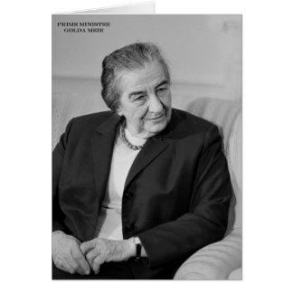 Golda Meir, israelischer Premierminister Karte