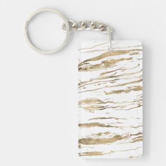 Goldabstrakte marbleized Farbe Schlüsselanhänger