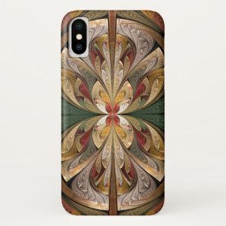 Goldabstraktes Schmetterlings-beflecktes iPhone X Hülle
