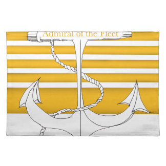 GoldAdmiral der Flotte, tony fernandes Stofftischset