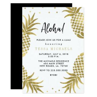 Goldananas Luau Party Einladungen