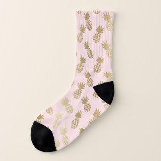 Goldananas-Muster Socken