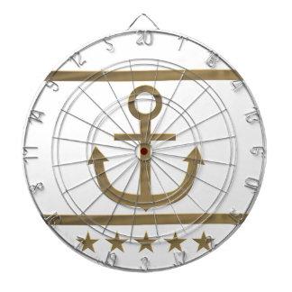 Goldanker-Glücksymbol Dartscheibe