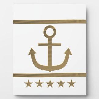 Goldanker-Glücksymbol Fotoplatte