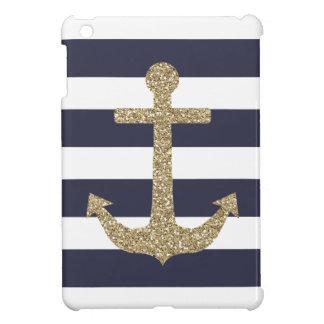 Goldanker-Marine u. Weiß Stripes iPad Minikasten iPad Mini Hülle