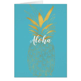 Goldaqua-Aloha Ananas Karte