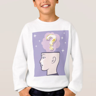 Goldaufmerksame Fragen-vektorkunst Sweatshirt