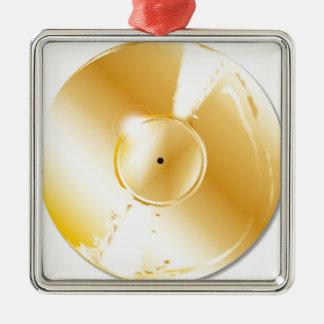 Goldaufzeichnung Quadratisches Silberfarbenes Ornament
