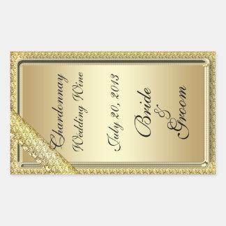 GoldBar, das Wein-Aufkleber Wedding ist Rechteckiger Aufkleber