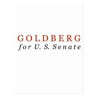 Goldberg für US-Senat Postkarte