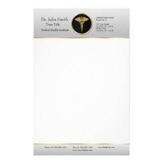 Goldberuflicher medizinischer Caduceus - Briefpapier