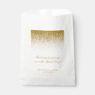 Goldbeschaffenheitconfetti-Polterabend | Geschenktütchen