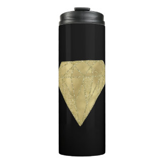 Goldbezaubernder und schwarzer Diamant Thermosbecher