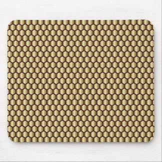 Goldbienenwaben-geometrischer Fliesen-Blick Mousepad