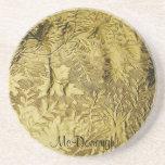 Goldblatt-Folien-Muster Getränkeuntersetzer