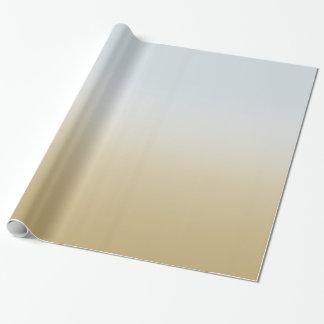 Goldblau Ombre Geschenkpapier