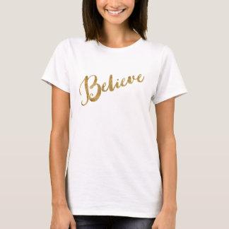 Goldblick glauben Skript T-Shirt