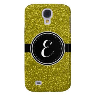 GoldBling Glitter-personalisierter Fall Galaxy S4 Hülle