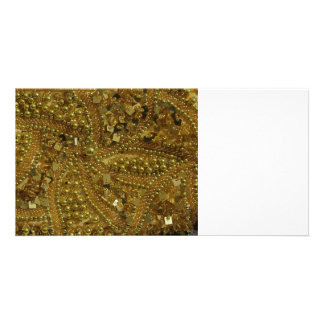Goldbling Glitter u. -perlen Fotokarten