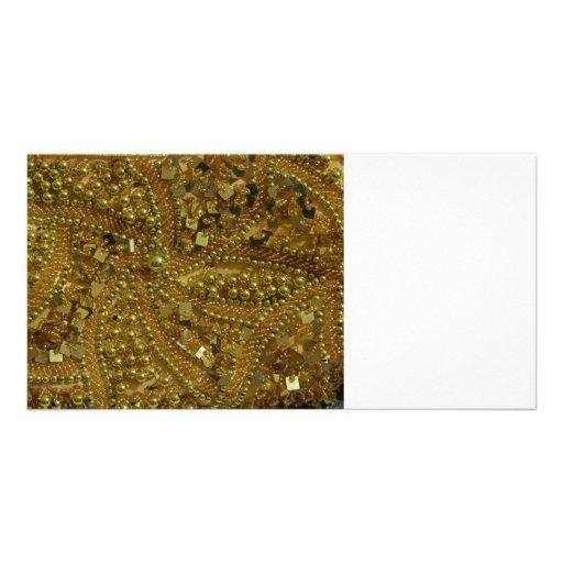 Goldbling Glitter u. -perlen Bildkarten