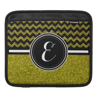 GoldBling Glitter und Zickzack personalisierter Sleeve Für iPads