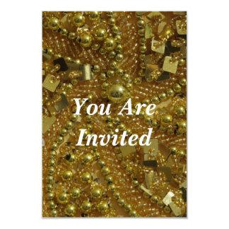 Goldbling u. -perlen 8,9 x 12,7 cm einladungskarte