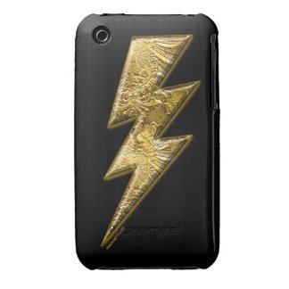 Goldblitz-Bolzen-BlackBerry-Hüllen Case-Mate iPhone 3 Hülle