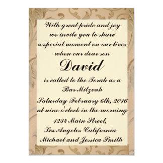 GoldBlumen-Bar/Schläger Mitzvah Einladungen