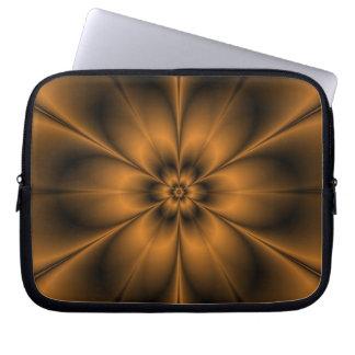 GoldBlumen-Laptop-Hülse Laptopschutzhülle