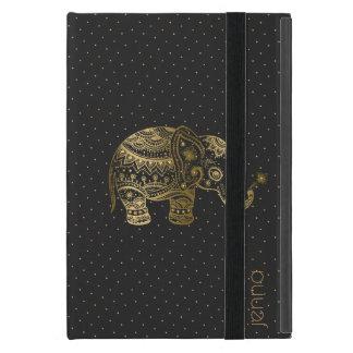 Goldblumenelefant u. Goldpunkte iPad Mini Schutzhülle