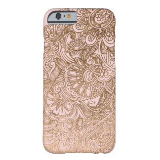 Goldblumenmuster Mehndi rosa iPhone Fall Barely There iPhone 6 Hülle