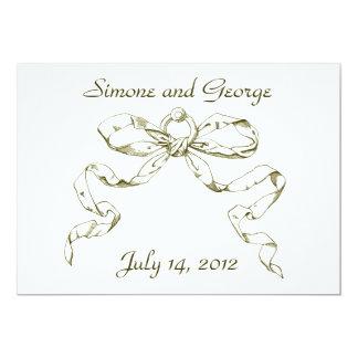 Goldbogenswag-Vintage Art-Hochzeits-Einladungen 12,7 X 17,8 Cm Einladungskarte